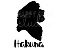 Hakuna Matata Simba Disney Decal / Lion King Safari Magic Animal Kingdom Matching Husband Wife Boyfriend Girlfriend Disney Iron On Vinyl 345