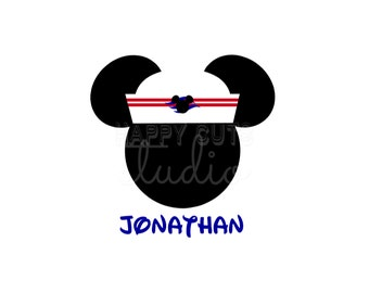 Personalized Mickey or Minnie Sailor Disney Personalized Vacation Disney Cruise Matching Family Disney Iron On Decal 4 Shirt  113