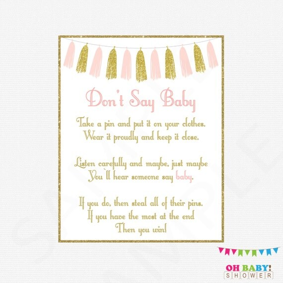baby shower games don 39 t say baby printable baby shower clothes pin