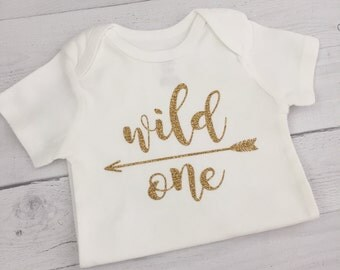 Wild One Tribal Birthday Shirt/Baby Girl Bodysuit/Wild One Bodysuit