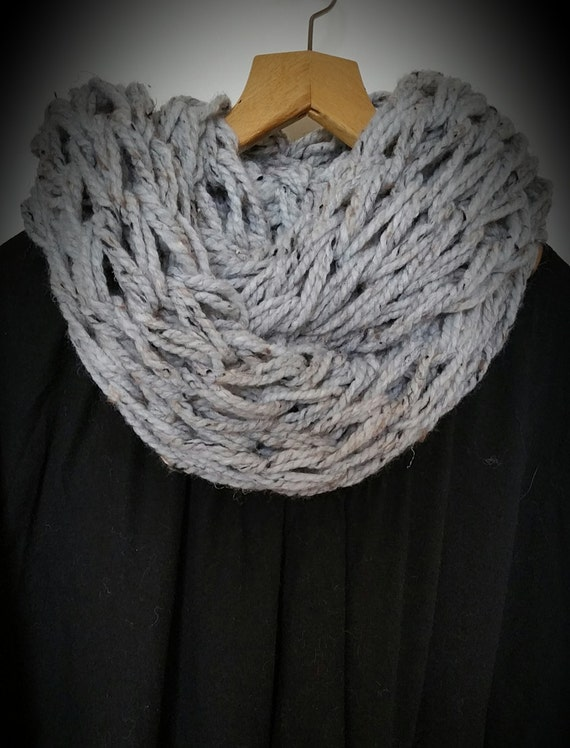 Arm knitted infinity scarf arm knit scarf arm knitting arm