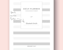 DAILY PLANNER with God's Promises for Every Day of the Month. Custom Made for You. x37 Pages Available, January Month. New by The Word