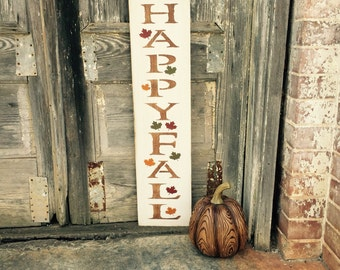 Happy Fall, Happy Fall Sign, Fall Home Decor, Autumn Home Decor, Thanksgiving Home Decor, Harvest Time Decor, Harvest Home Decor