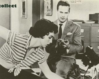Vintage Book Image (1974): Kiss Me Deadly (1955). Ralph Meeker (Mike Hammer) & Maxine Cooper. Film Noir