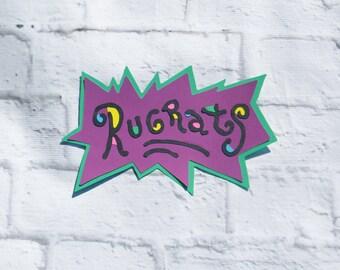 Nickelodeon Rugrats Logo Die Cut, Rugrats Die Cuts, Rugrats Party, Character Die Cuts, 90's Nickelodeon, Paper Die Cuts, Handmade Die Cuts