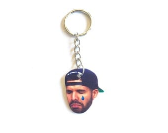 Crying Tear Drake Inspired Keychain