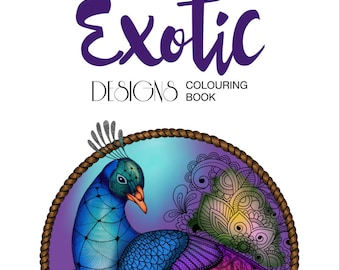 Adult Colouring Book Exotic Designs