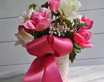 Floral Arrangement, Wedding Floral, Table Centerpiece, Spring Arrangement, Home Decor, Summer Floral, Rose Centerpiece, Bridal Floral