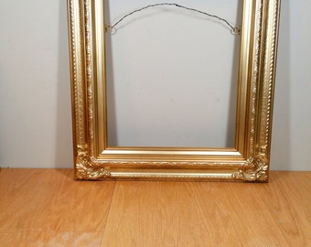 Ornate Picture Frame for 11x14 Vintage Gold Wide Frame Hanging Wedding Picture Frame Gallery Photo Booth Prop