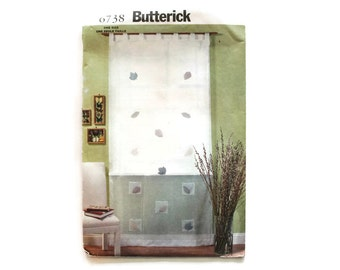 2000 Sewing Pattern - Butterick 6738 - Cafe Curtain Pockets