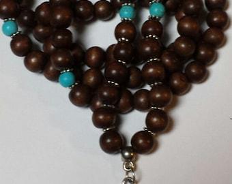 108 mala beads with Ohm charm