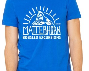 Disney Shirts Matterhorn Shirt Disneyland shirt Disney World Shirt Matterhorn Bobsleds Shirt Magic Kingdom Shirt Disney Cruise Shirt