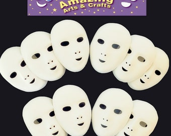 10 Fancy Dress Face Masks to paint or decorate