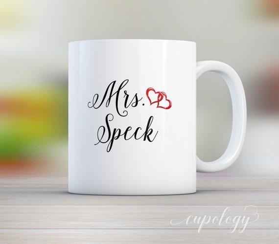 Personalized Mrs Mug, Custom Mug, Wedding Gift, Bridal Shower Gift ...