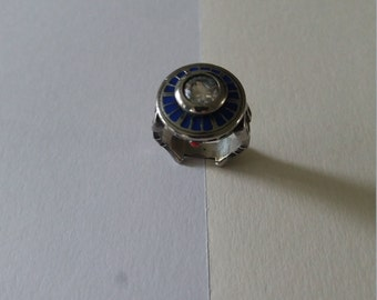 R2-D2 ring, inspired by SW/Artoo Detoo's ring.