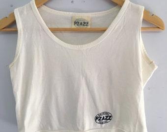 Vintage Pzazz casual cropped Cotton singlet