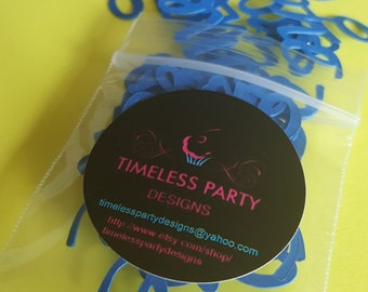 One/First/ 1st confetti available in multiple colors. Perfect to compliment your first birthday party decorations.