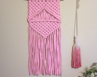 ECO-Line Ecofriendly Upcycled Textile Macrame Wall Hanging