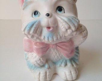 Super Cute Kitschy Pink and Blue Scottie Dog Planter Made in Japan - Perfect new bay gift!