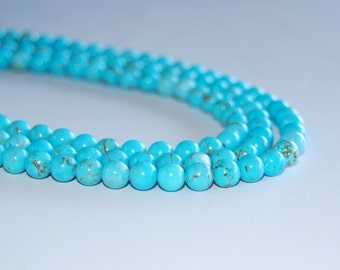 Synthetic Turquoise Loose Beads 6mm