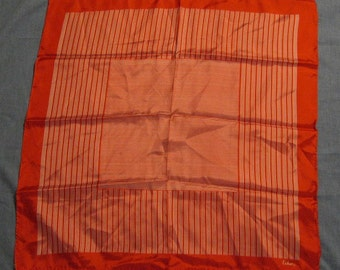 Vintage Red & White Striped Echo Square Scarf