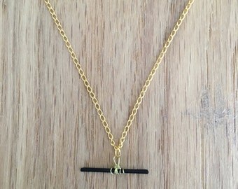SALE - Raw Tourmaline natural stone necklace ~ gold necklace - Discounted prices - fashion jewelry