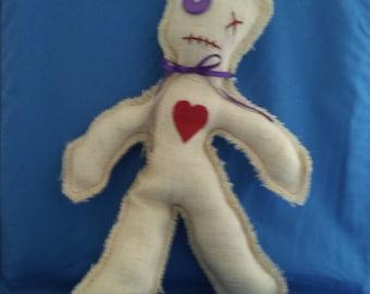 Handmade Burlap VooDoo Doll