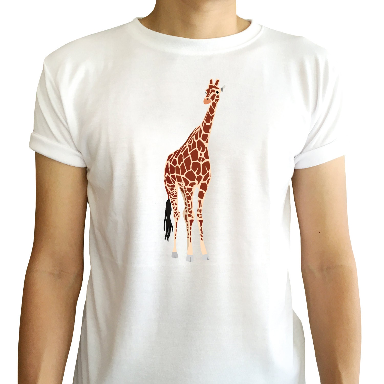 Giraffe Is Long Neck And Tall Shirt Animal Tshirt Minimal Top