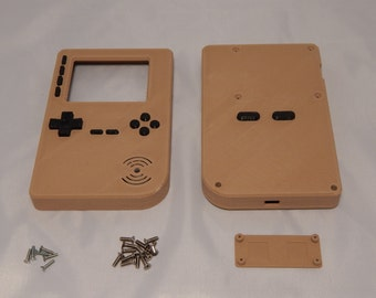 WOOD PLA Game Boy Case GameBoy DIY Adafruit PiGRRL2 PiGRRL 2 Raspberry Pi 2 with Buttons Bronze Glow in the Dark