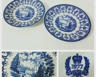 "Vintage Broadhurst ""Balmoral"" 1977 Queens Silver Jubilee Saucers"