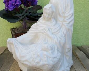 Holy Family Statue, Nativity Scene, Vintage, Porcelain, 1989, Catholic Statue, Christmas Decor