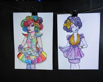 Effie Trinket Set - The Hunger Games Paintings