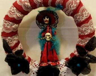 Scarlet Skull door hanger
