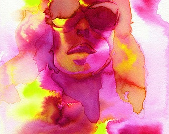 """Poster in watercolor """"Glam"""" made by"""