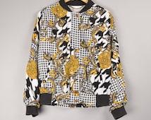 Vintage Panda Fashion Versace Look Jacket Bomber Jacket Training Jacket Coach Jacket Size:  42 | Gucci Versace Nike Adidas Lanvin Chanel
