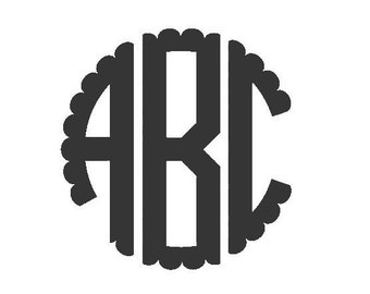 Scallop Edged Monogram SVG File
