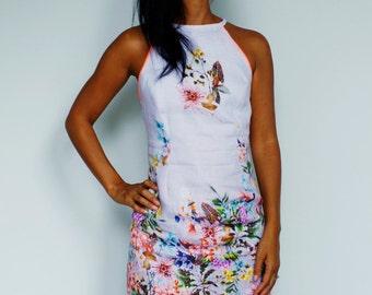 Dress sleeveless linen Anastasia Ramlall signed