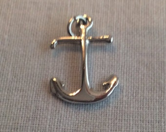 1960's Vintage Sterling Silver Anchor Charm .925 #671
