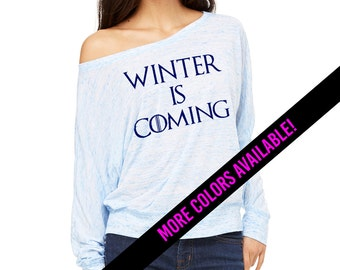 Winter is Coming - Game of Thrones - Over the shoulder Long Sleeve Top