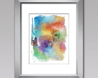 Modern Art, Contemporary Print, COLOR SPECTRUM #2,  Mid Century Art Print, Color Field Artwork, Abstract Art Print, Rainbow Colors