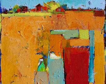 "Original Painting ""Pleasure Fields"" 24"" x 24"""