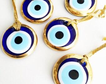 50 pcs evil eye beads | gold evil eye bead | evil eye symbol | nazar boncuk | evil eye pendant | evil eye protection | Turkish evil eye bead