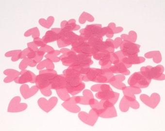 100 Wedding Confetti, Heart Confetti, Bridal Shower Confetti, Pink Confetti,Table Decor,Vellum Confetti,Party Confetti,Wedding,Confetti