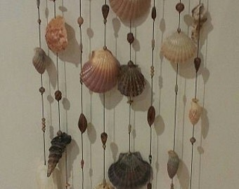 Seashell, Driftwood and Bead Wall Hanging