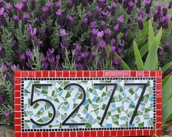 Mosaic address sign