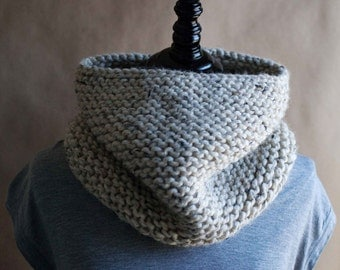 The Addison // knit cowl neckwarmer // Oatmeal