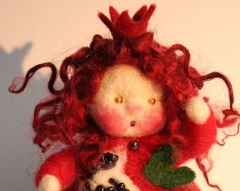 Pomegranate season table finger puppet