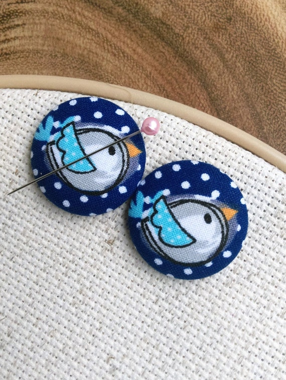 Needle Minder Bird Blue  (2 Piece Reversible)