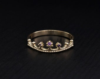 crown wedding band crown gold ring crown ring by weddingringsstore