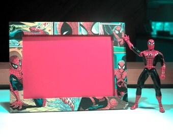 Spiderman Comic Book Picture Frame
